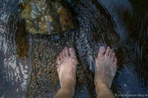 Wassertreten in der in der Warche