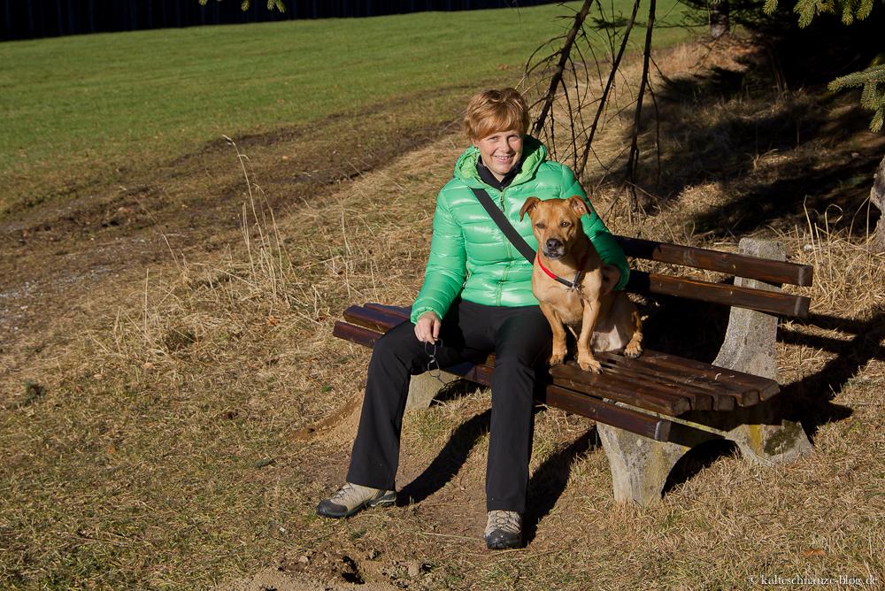 Cabo und ich im Hopfer Wald im Allgäu.