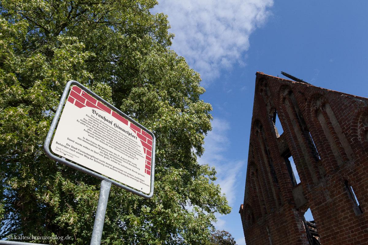Die Überreste des Klosterbrauhauses.