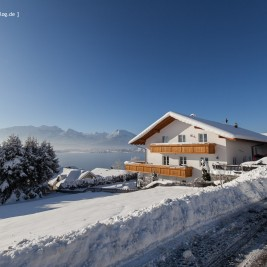 Das Ferienhaus Traumblick im Winter.