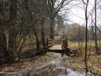 Brücke Nummer 1: Sie führt über den Schleebach.