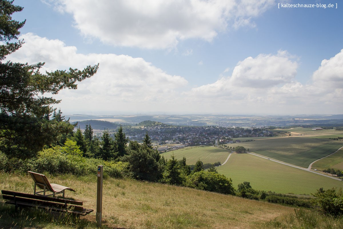 Tolle Fernsicht vom Hochstein - Traumpfad Vier-Berge-Tour