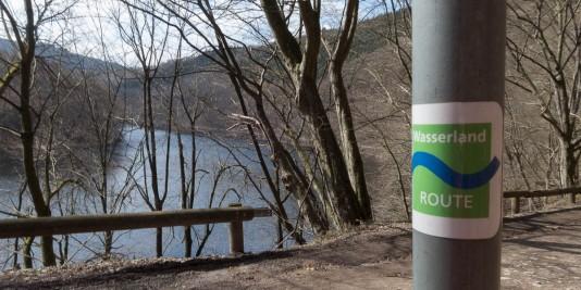 Das Logo der Wasserlandroute.